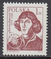 Poland 1972 - Definitive Stamp: Astronomer Mikolaj Kopernik (Nicolaus Copernicus) - Mi 2230 ** MNH - Nuevos