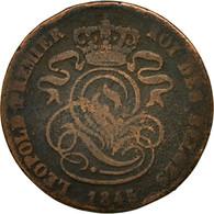 Monnaie, Belgique, Leopold I, 2 Centimes, 1845, B+, Cuivre, KM:4.2 - 1831-1865: Léopold I