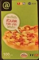 Mobilecard Thailand - 12Call/AIS  -  Pizza - Thaïland