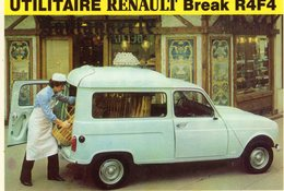 Renault R4F4 Break Utilitaire  -  Carte Postale - Camions & Poids Lourds