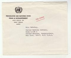 UN In MOROCCO Via DIPLOMATIC BAG 'Pouch' RABAT  UNDP To UN NY USA United Nations Cover - Morocco (1956-...)