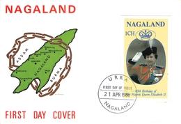 NAGALAND - FDC 1988 BIRTHDAY ELIZABETH II - Indien