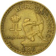Monnaie, Monaco, Louis II, Franc, 1926, Poissy, TTB, Aluminum-Bronze - Monaco