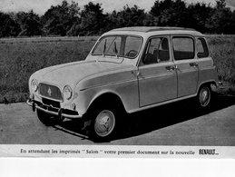 En Attendant Les Imprimés 'Salon' Votre Premier Document Sur La Nouvelle RENAULT 4  -  Carte Postale - Passenger Cars