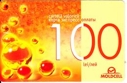 MOLDOVA - Moldcell Prepaid Card 100 Lei, Used - Moldova