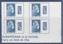 = Marianne L'Engagée 2018 Bloc X4 Bas De Feuille Droit Europe N°1603 Neuf Type Adhésif - 2018-... Marianne L'Engagée