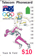AUSTRALIA -  Barcelona 1992 Olympics/Track & Field(N91044-3-3), Used - Australia