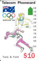 AUSTRALIA -  Barcelona 1992 Olympics/Track & Field(N91044-3-2), Used - Australia