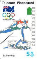 AUSTRALIA -  Barcelona 1992 Olympics/Swimming(N91042-2-4), Used - Australia