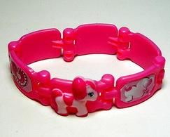 K275 / Kinder Série Bracelets Poney / Bracelet Rose / Ref : FT096 - Montables