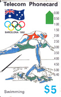 AUSTRALIA -  Barcelona 1992 Olympics/Swimming(N91042-2-3), Used - Australia