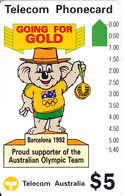 AUSTRALIA - Olympic Games Barcelona 1992/Willy Koala(N 91021-2-2), Used - Australia