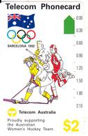 "AUSTRALIA - Barcelona 1992 Olympics, Women""s Hockey Team(N91041-1-2), Used - Jeux Olympiques"