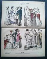 Litho Ancienne Allemande, Costumes époque Napoléon No 990 - Lithographies