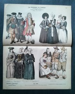 Litho Ancienne Allemande, Costumes Hommes Et Femmes No 997 - Lithographies