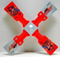 K288 / Kinder Série Toupies Beyblade/ Zyro (rouge) / Ref : UN038B - Montables
