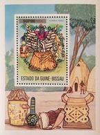 Guinea-Bissau 1976 Masked Dancer Ovptd.UPU Cent. S/S - Guinea-Bissau