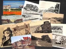 Belgique - Lot +200 Cartes (De Haan Le Coq Middelkerke Leuven Brugge...oldtimer Animée Pêche Voir Zie See Scans - Cartes Postales