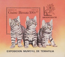 Guinea-Bissau 1985 Cats S/S  POSTAGE FEE TO BE ADDED ON ALL ITEMS - Guinea-Bissau