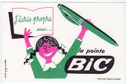 Aot17 76134  Buvard   La Pointe BIC - Papeterie