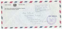 UN In SURINAME  To UN NY Airmail POST PAID PARAMARIBO FOREIGN MINISTRY COVER United Nations Usa - Surinam