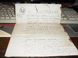 Ancien Acte Notarié De Vente Napoléon 1808 - Manuscripts