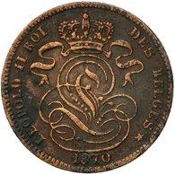 Monnaie, Belgique, Leopold II, Centime, 1870, TB, Cuivre, KM:33.1 - 1865-1909: Leopold II