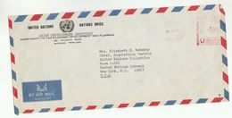 1976 UN In THAILAND Airmail COVER METER Stamps UN DEVELOPMENT INST PLANNING  To United Nations NY USA - Thailand