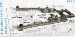PLAN MUSEE DU LOUVRE *Informations Pratiques *Le Louvre Et Ses Collections *A Découvrir... - Topographical Maps