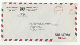 1975 UN In SENEGAL Airmail COVER METER Stamps UN IDEP  To United Nations NY USA,  Environment Programme - Senegal (1960-...)