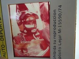DIAPOSITIVE / SLIDE  EMERSON FITTIPALDI - MCLAREN - Grand Prix Formule 1 1974 - Diapositives (slides)