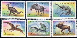 538 Kazakhstan Dinosaures Dinosaurs Mesosaurus Plesiosaurus MNH ** Neuf SC (KAZ-2a) - Kazakhstan