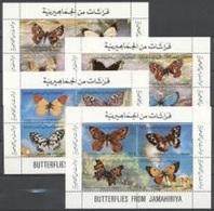Libya 1981, Butterflies, 4BF - Libia