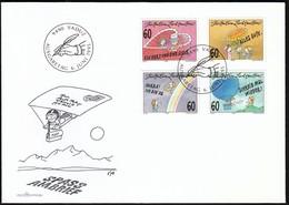 Liechtenstein Vaduz 1995 / Greeting Stamps, Heart, Rainbow, Sunflower, Balloon / FDC - FDC