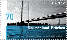 Germany Alemania Allemagne Deutschland 2018 EUROPA BRIDGES Stamp MNH ** - 2018