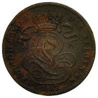 Monnaie, Belgique, Leopold II, Centime, 1887, TB, Cuivre, KM:34.1 - 1865-1909: Leopold II