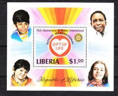 Liberia  -1979. 75^ Anniv. Del Rotary. MNH - Rotary, Lions Club