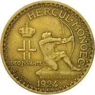 Monnaie, Monaco, Louis II, Franc, 1924, Poissy, TTB, Aluminum-Bronze - Monaco