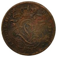 Monnaie, Belgique, Leopold I, Centime, 1861, B+, Cuivre, KM:1.2 - 1865-1909: Leopold II