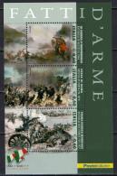 ITALIA - 2011 - FATTI D'ARME: BATTAGLIA DI BEZZECA, BRECCIA DI PORTA PIA, BATTAGLIA DISONZO - SOUVENIR SHEET -  MNH - 1946-.. République