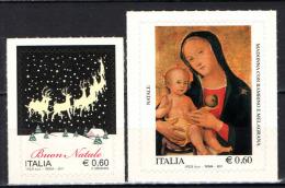 ITALIA - 2011 - NATALE LAICO E NATALE RELIGIOSO - AUTOADESIVO - 6. 1946-.. Repubblica
