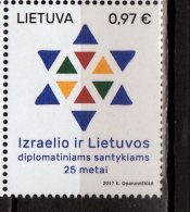 2017 LIthuania - 25 Years Of DIplomatic Relationship W Israel - 1v - MNH** MI Nr 1225 (zz17) - Lithuania