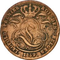 Monnaie, Belgique, Leopold I, 5 Centimes, 1859, TB, Cuivre, KM:5.1 - 1831-1865: Léopold I