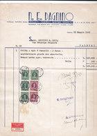 """MONZA _ 1949 /  Fattura Commerciale  """" N. E. DAGNINO """" - Italy"""