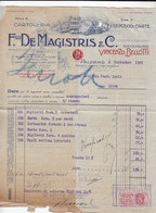 """PALERMO _ 1929 /  Fattura Commerciale  """" F.LLI DE MAGISTRIS & C. """" - Italy"""