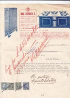 """PALERMO _ 1940 /  Fattura Commerciale  Ditta  """" ESPOSITO S. """" - Italy"""