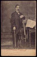 GUILHERME COUSSUL Artista Musico Violoncelista (Fundador Bombeiros De LISBOA). Postal De 1900s. Old Postcard PORTUGAL - Lisboa