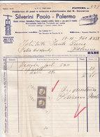 """PALERMO _ 1940 /  Fattura Commerciale  """" SILVERINI PAOLO """" - Italy"""