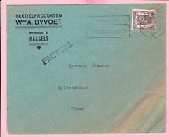 Enveloppe Textielprodukten - Wwe A. BYVOET Hasselt - Cloonen Olmen - Belgium