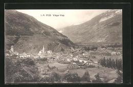 CPA Viege-Visp, Vue Générale Avec Gebirge - VS Valais